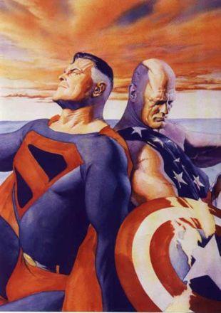 20150905-ComicsSelection_09_Superman_CaptainAmerica_AlexRoss