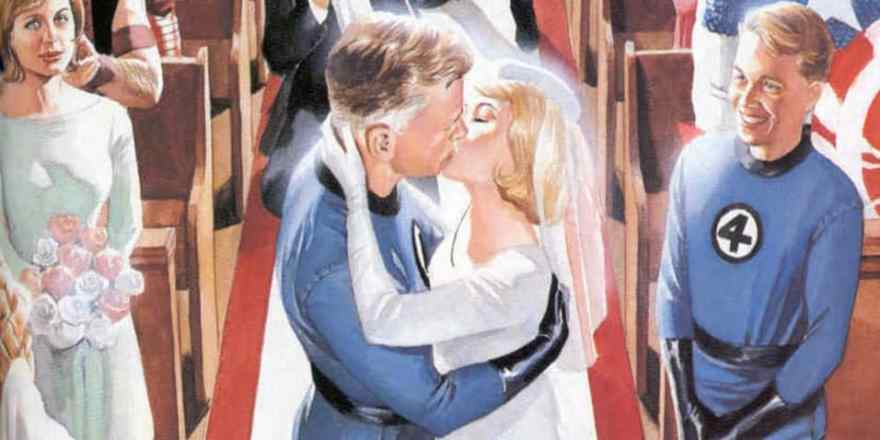 reed-richards-sue-storm-wedding-kiss